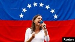 "El presidente Nicolás Maduro se refirió a la diputada opositora María Corina Machado como ""exdiputada""."