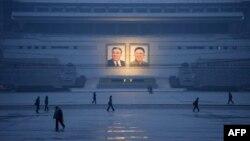 지난 12월 평양 김일성 광장.