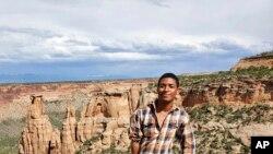 This undated photo provided by David Robinson shows his son Daniel Robinson in Arizona.