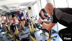 Studi mendapati aerobik intensitas tinggi mungkin bisa mencegah penuaan (foto: ilustrasi).