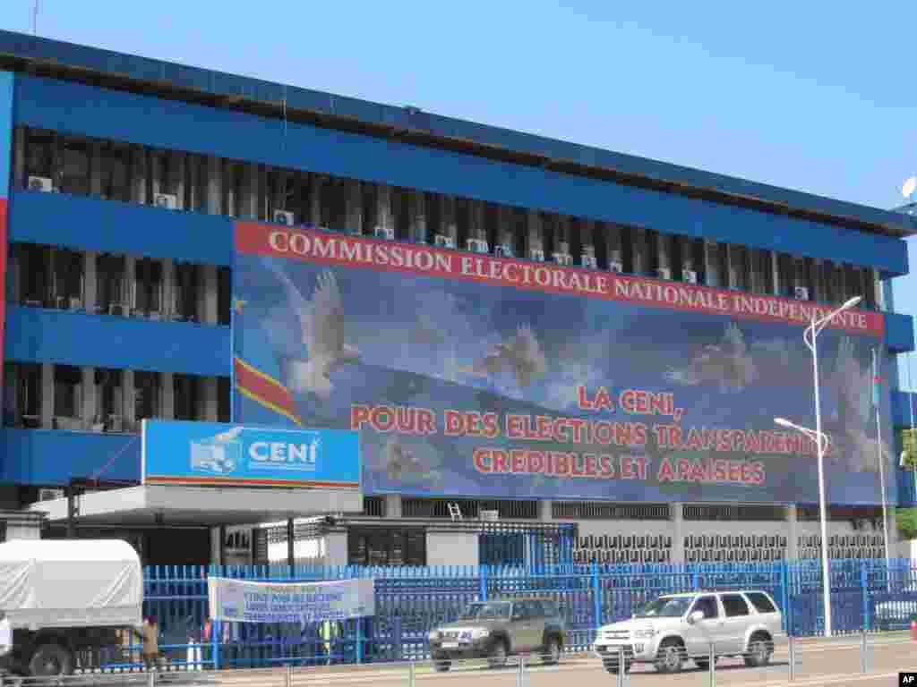 Siege de la Comission Electorale congolaise Kinshasa 7 novembre 2011