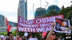 Du học sinh VN ở Hà Lan biểu tình chống Trung Quốc