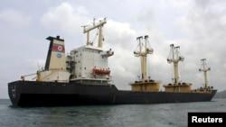 지난 2009년 8월 인도 해상에서 불법 무기를 실은 것으로 의심돼 조사를 받았던 북산 선박 'MV 무산호'. (자료사진)