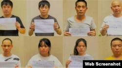 Một số người Trung Quốc nhập cảnh vào TP Hồ Chí Minh trái phép được đưa đi cách ly. Photo CAND.