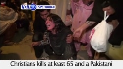 VOA60 World 03-28- Bombing targeting Christians kills kills at least 65 in Pakistan