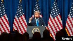 美国总统特朗普2020年8月24日现场出席共和党全代会首日会议(路透社)