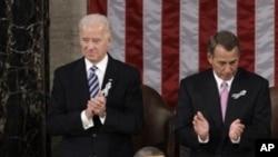 奥巴马总统今年1月25日晚在国会发表国情咨文演说 AP