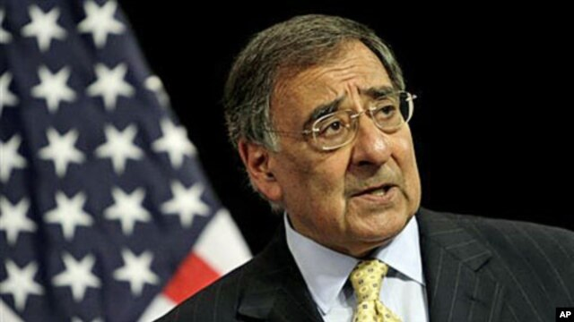 United States Defense Secretary Leon Panetta speaks during a media conference after a meeting of NATO defense ministers at NATO headquarters in Brussels, Belgium, October 5, 2011.