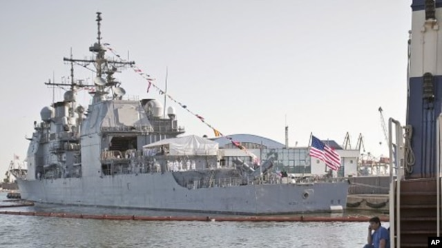 USS Monterey in the Black Sea port of Constanta, Romania (File Photo - June 7, 2011)