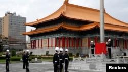台北市中正紀念堂升旗仪式(资料照)