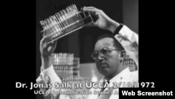 UCLA speeches on YouTube, Dr. Jonas Salk from 1972