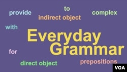 Everyday Grammar - Prepositions