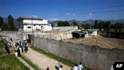 The bin Laden compound in Abbottabad, Pakistan
