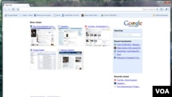 Google Chrome, el navegador web que sirvió de inspiración para el nuevo sistema operativo.