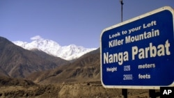 "In this undated image, Nanga Parbat is seen in northern Pakistan. Nanga Parbat is widely known as ""Killer Mountain"" because of the many climbers who have perished there."