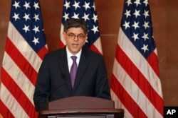 U.S. Treasury Secretary Jacob Lew attends a press conference held at the end of the G20 Finance Ministers and Central Bank Governors meeting in Chengdu in Southwestern China's Sichuan province, July 24, 2016.