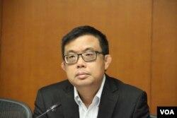 香港立法會議員,民主黨成員涂謹申(美國之音記者申華拍攝)