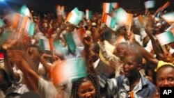 Ivory Coast will be celebrating 50 years in August, even though it is currently divided in two (file photo)