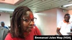 La directrice marketing de Africa food distribution importateur du riz broli et Armanti, à Yaoundé, le 7 janvier 2019. (VOA/Emmanuel Jules Ntap)