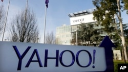 FILE - Yahoo's headquarters in Sunnyvale, California, in Jan. 14, 2015. The internet company built a software program last year to secretly search hundreds of millions of emails at the U.S. government's request, sources said.