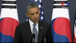 President Obama in South Korea Warning North Korea Against Fourth Nuclear Test