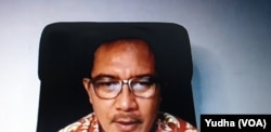 Ketua PPNI, Harif, saat menjadi narasumber diskusi daring terkait kepercayaan masyarakat pada efektifitas vaksin covid 19, Rabu (4/11), dalam tangkapan layar.