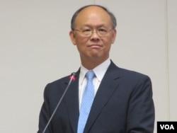 台灣經濟部長鄧振中(美國之音張永泰拍攝)