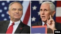 مناظرۀ میان مایک پنس و تیم کین یگانه مناظره میان معاونین نامزدان ریاست جمهوری ایالات متحده خواهد بود
