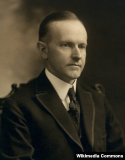 "Calvin Coolidge's 1924 campaign slogan was ""Keep Cool with Coolidge."""