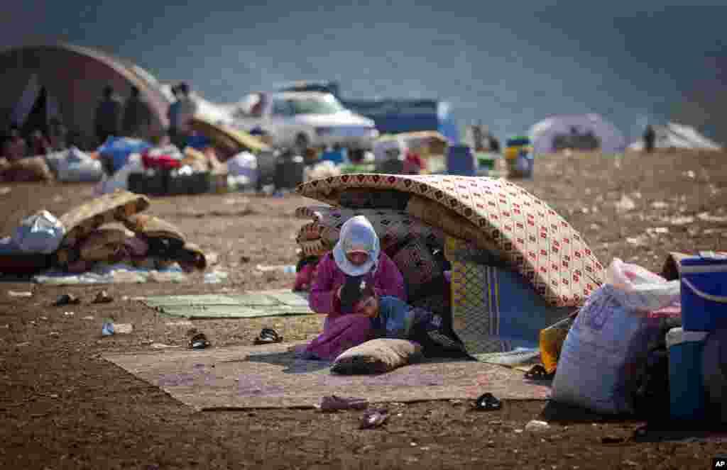 Suriya-Turkiya chegarasida jon saqlayotgan qochqinlar. 7-noyabr