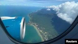 Đảo du lịch Phú Quốc nhìn từ máy bay. Ảnh chụp ngày 8/5/2020.