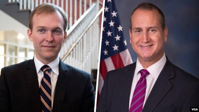 Dân biểu Ben McAdams (trái) và Dân biểu Mario Diaz-Balart là hai nghị sĩ đầu tiên trong Quốc hội Hoa Kỳ loan báo họ xét nghiệm dương tính với virus corona.
