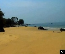 The beach at John Obey village in Sierra Leone - site of a Tribewanted eco-resort