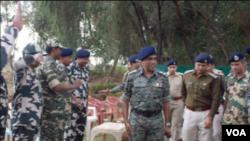 India's Reserve Police Force Director General Prakash Mishra