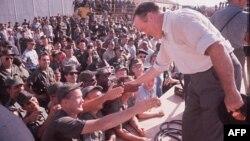 Comedian Bob Hope visits U.S. troops in South Vietnam in 1964