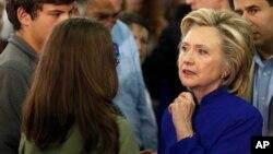 미국 대선 민주당 경선 후보에 출마한 힐러리 클린턴 전 미 국무장관. (자료사진)