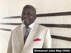 Biya II Jean Jacques, délégué aux questions électorales de l'union des populations du Cameroun (UPC), le 19 février 2018. (VOA/Emmanuel Jules Ntap)