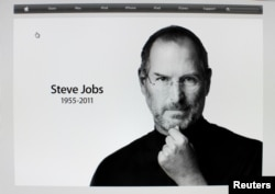 Apple Inc co-founder and former CEO Steve Jobs picture is featured on the front page of the Apple website after his passing in this screen grab October 5, 2011. Jobs, counted among the greatest American CEOs of his generation, died on October 5, 2011 at