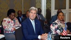 John Kerry, Sakataren Harkokin Wajen Amurka da Amina Muhammad, Ministar Harkokin Wajen Kenya