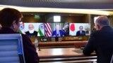 Лидеры «Четверки» на виртуальной встрече с президентом США Джо Байденом 13 марта 2021 г.