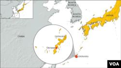 琉球(沖繩)地理位置圖(資料照片)