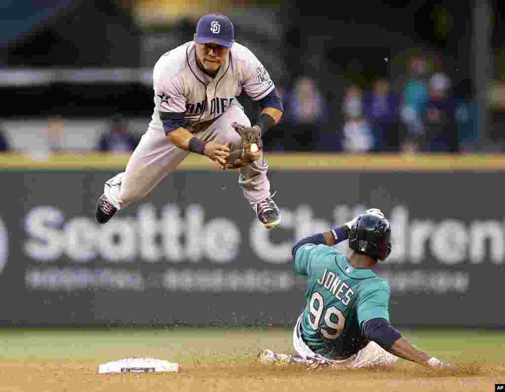 16 Haziran 2014 Seattle Mariners-San Diego Padres beyzbol maçı.
