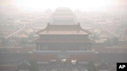 """Polusi di Beijing, China (foto: dok). Pihak berwenang Beijing mengeluarkan peringatan """"siaga oranye"""" terkait polusi di kota tersebut, Rabu (16/11),"""