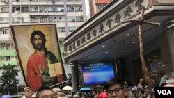 8月31日下午香港多個宗教團體在灣仔舉行祈禱會。(攝影: 美國之音湯惠芸)