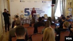 Učesnici konferencije povodom petogodišnjice Briselskog sporazuma u Beogradu, 29. novembra 2018.