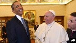 Президент Обама и Папа Франциск