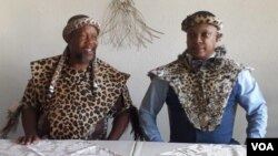 Bulelani Lobengula Mzilikazi Khumalo and Chief Nhlanhlayamangwe Ndiweni
