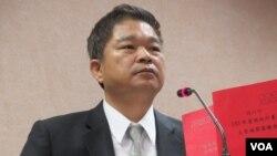 台湾在野党民进党立委蔡煌琅(美国之音张永泰拍摄)