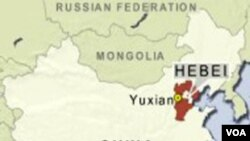Provinsi Hebei, di mana keempat warga Jepang ditahan.