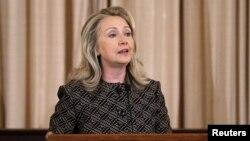 Ngoại trưởng Clinton nói mục đích chiến lược của Mỹ là mau chóng chấm dứt vụ đổ máu và chế độ Assad